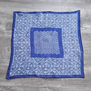 Vera Neumann blue violet silk scarf